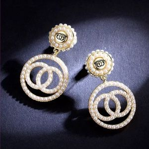 Gold Tone Simulated Pearl Earrings